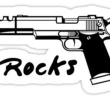 Gun Rocks Sticker