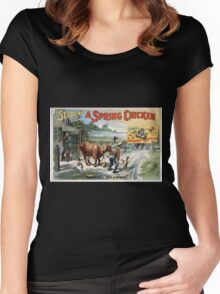 Performing Arts Posters Seldens funny farce A spring chicken 0811 Women's Fitted Scoop T-Shirt