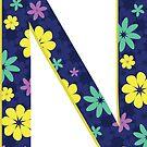 Flower Letter N by Winterrr