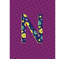 Flower Letter N Photographic Print