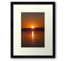 Reflecting on a Sunrise Framed Print