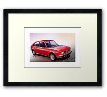 Poster artwork - Alfa Romeo Alfasud Framed Print