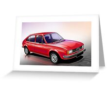 Poster artwork - Alfa Romeo Alfasud Greeting Card
