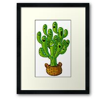 cactus tree Framed Print