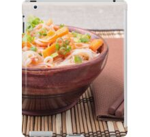 Small portion of rice vermicelli hu-teu with vegetables iPad Case/Skin