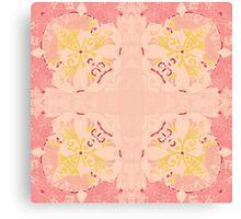 Pink Tile Design Canvas Print