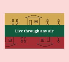 Lithuania - Live through any air - by Flagging Awesome One Piece - Short Sleeve