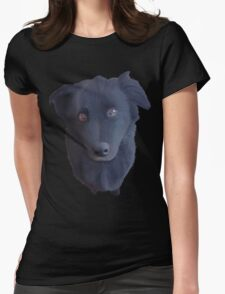 Portrait of my Dog (Original) Womens Fitted T-Shirt