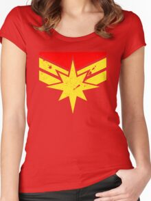 Distressed Super Heroine Women's Fitted Scoop T-Shirt