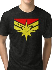 Distressed Super Heroine Tri-blend T-Shirt