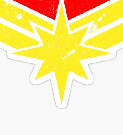 Distressed Super Heroine Sticker