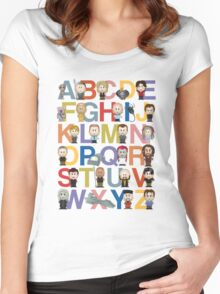 Through the Wormhole Alphabet Women's Fitted Scoop T-Shirt