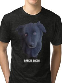 Portrait of my Dog (Danger Doggo) Tri-blend T-Shirt