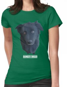 Portrait of my Dog (Danger Doggo) Womens Fitted T-Shirt