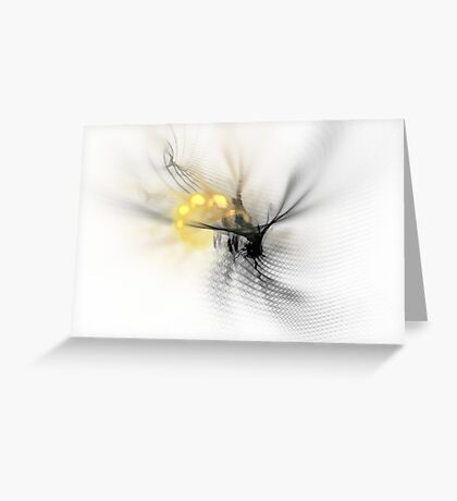 Fractal Wasp Greeting Card