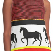 horses black white and red Contrast Tank
