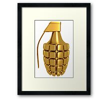 Gold Grenade Framed Print
