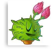 Flowering cactus 2 outline Metal Print