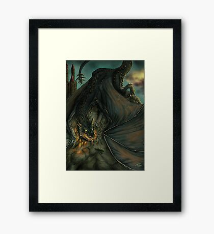 Hungarian horntail - No text version Framed Print