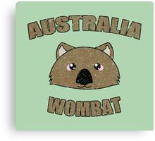 Wombat vintage design - Australian animal  Canvas Print