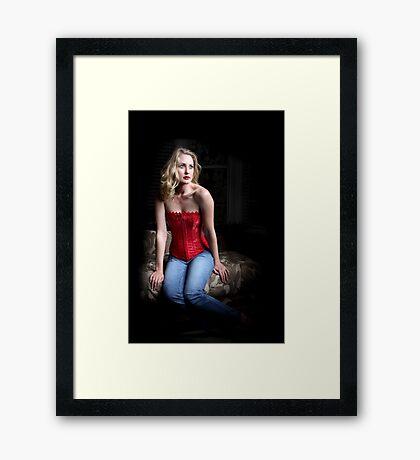 Sexy Blond Sitting Framed Print