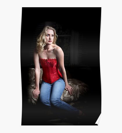 Sexy Blond Sitting Poster