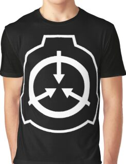 SCP Foudation Logo - White on Black Graphic T-Shirt