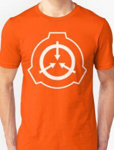 SCP Foudation Logo - White on Black Unisex T-Shirt