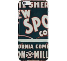 Performing Arts Posters Phil Sheridans New City Sports Company 0963 iPhone Case/Skin