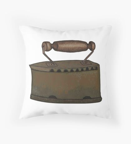 Retro iron Throw Pillow