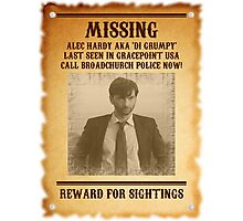 Alec Hardy 'Missing' Poster Photographic Print
