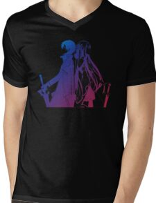 Kirito & Asuna Anime Manga Shirt Mens V-Neck T-Shirt