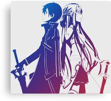 Kirito & Asuna Anime Manga Shirt Canvas Print