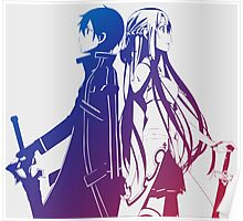 Kirito & Asuna Anime Manga Shirt Poster