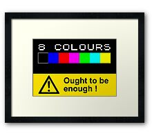 ZX SPECTRUM Colour Palette Framed Print