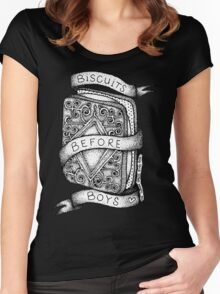 Biscuits Before Boys Women's Fitted Scoop T-Shirt