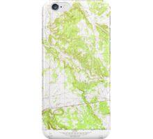USGS TOPO Map Arizona AZ Coyote Hills 311020 1969 24000 iPhone Case/Skin
