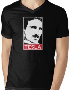 Tesla Poster Mens V-Neck T-Shirt