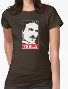 Tesla Poster Womens Fitted T-Shirt