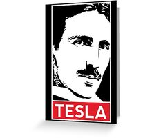Tesla Poster Greeting Card