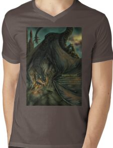 Hungarian horntail - With text version Mens V-Neck T-Shirt
