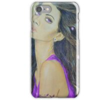 Woman with purple eyes iPhone Case/Skin