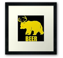 Bear Deer Beer Framed Print