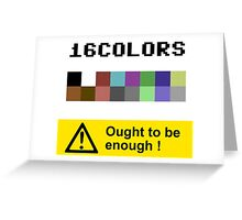 COMMODORE 64 Color Palette Greeting Card