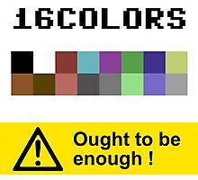 COMMODORE 64 Color Palette Photographic Print