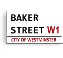 Baker Street Sign Canvas Print
