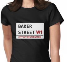 Baker Street Sign Womens Fitted T-Shirt