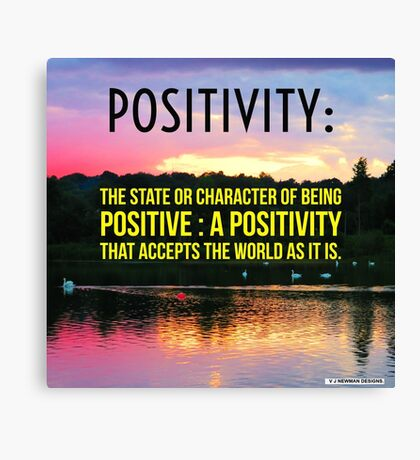 Positivity  Canvas Print
