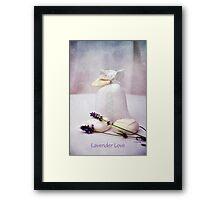 Lavender Love Framed Print