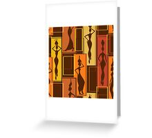 African Water Girl Pattern Greeting Card